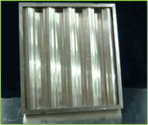 ALUMINUM BAFFLE GREASE FILTER