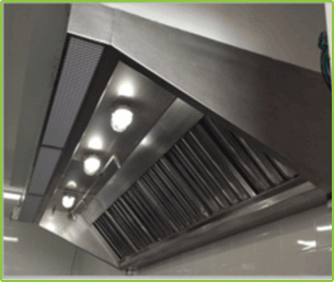 LIGHTS INSIDE STAINLESS STEEL KITCHEN HOOD