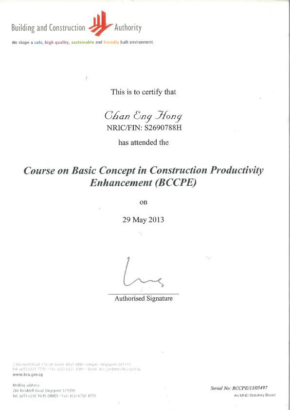 CHAN (CERT OF BCCPE) 1